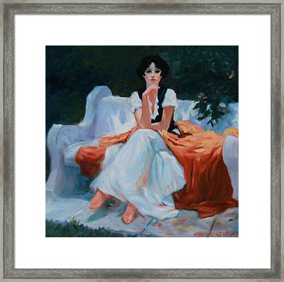 Pensive Pose Framed Print by Kevin Lawrence Leveque