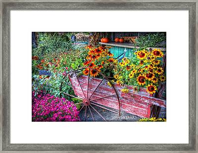 Penza's Red Barn  Framed Print