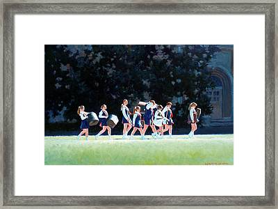 Pep Squad Framed Print by Kevin Lawrence Leveque