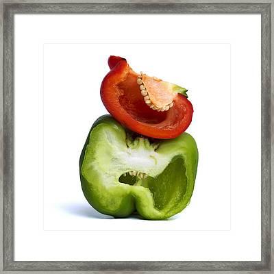 Peppers Framed Print by Bernard Jaubert