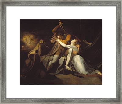 Percival Delivering Belisane From The Enchantment Of Urma Framed Print by MotionAge Designs