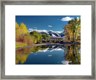 Perfect Autumn Day Framed Print by Leland D Howard
