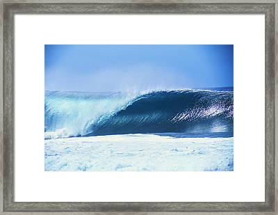 Perfect Wave At Pipeline Framed Print