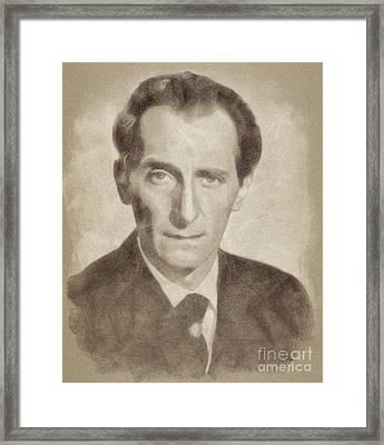 Peter Cushing, Vintage Actor Framed Print