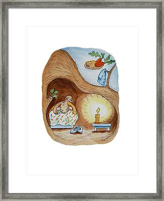 Peter Rabbit And His Dream Framed Print by Irina Sztukowski