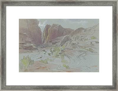 Petra, April 14, 1858 Framed Print by Edward Lear