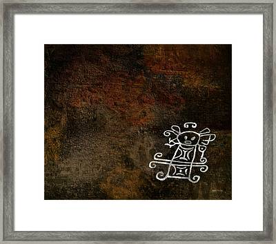 Petroglyph 2 Framed Print
