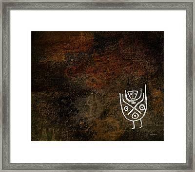 Petroglyph 3 Framed Print