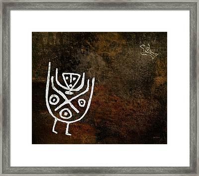 Petroglyph 4 Framed Print