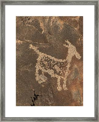Petroglyph Series 3 Framed Print by Tim McCarthy