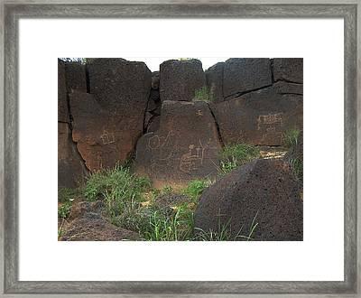 Petroglyph Series 4 Framed Print by Tim McCarthy