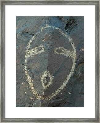 Petroglyph Series 5 Framed Print by Tim McCarthy
