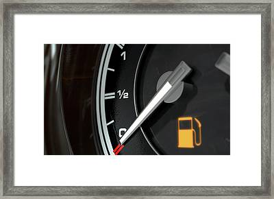 Petrol Gage Empty Framed Print by Allan Swart