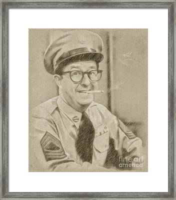 Phil Silvers, Actor, Comedian Framed Print by Frank Falcon