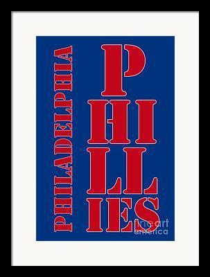 Phillie Drawings Framed Prints