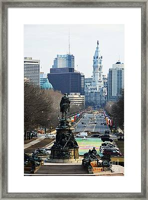 Philadelphia - The Parkway Framed Print by Cindy Manero