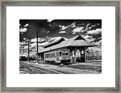 Framed Print featuring the photograph Philadelphia Trolley by Paul W Faust - Impressions of Light