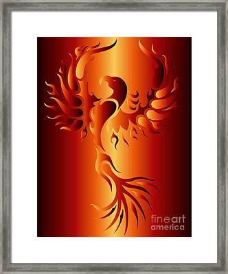 Phoenix Fire Framed Print by Robert Ball