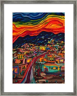 Phoenix Setting Framed Print by Ira Stark