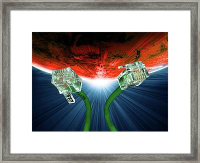 Phone Cables Framed Print