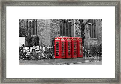 Phonebox In Red Framed Print by David Warrington