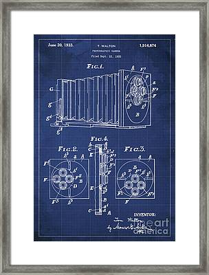 Photographic Camera Patent Year 1930 Framed Print