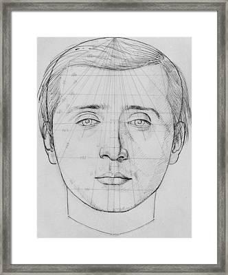 Phrenological Study Framed Print