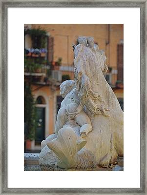 Piazza Fountain Views Framed Print by JAMART Photography