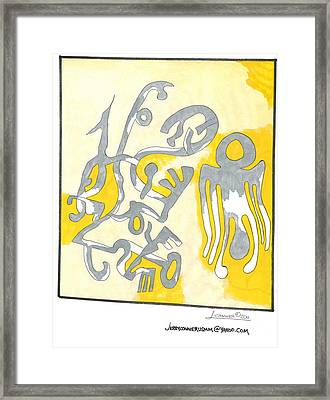 Picasso Painting Framed Print by Jerry Conner