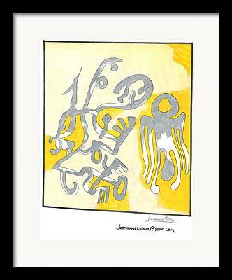 Generative Drawings Framed Prints