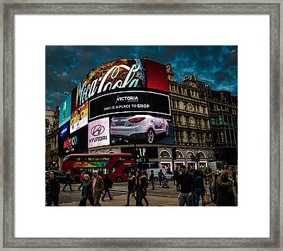 Piccadilly Circus Framed Print by Martin Newman