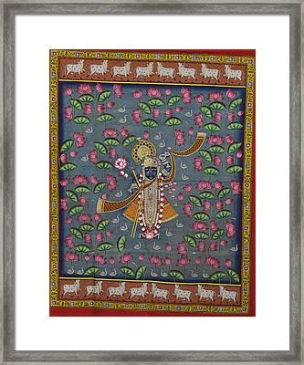 Pichwai Framed Print