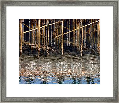Pier And Water Framed Print