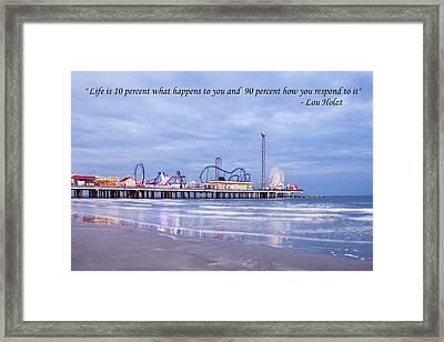 Pier At Galveston Framed Print
