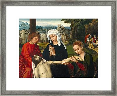 Pieta At The Foot Of The Cross Framed Print
