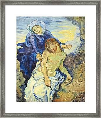Pieta Framed Print by Vincent Van Gogh