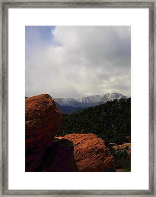 Pikes Peak Framed Print by Patrick  Short