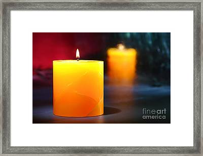 Pillar Candle Framed Print by Olivier Le Queinec