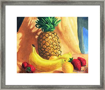 Pineapple Delight Framed Print