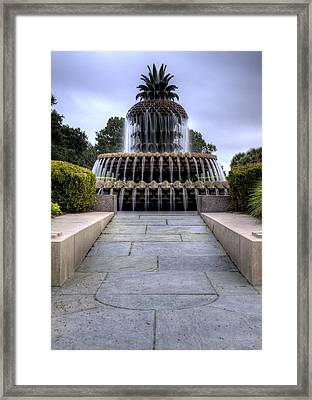 Pineapple Fountain Charleston Sc Framed Print by Dustin K Ryan