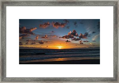 Pink Cloud Sunrise Delray Beach Florida Framed Print