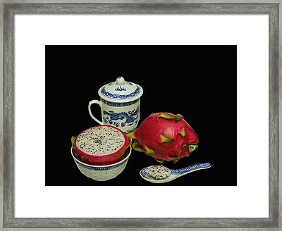 Framed Print featuring the photograph Pink Dragon Fruit  by David French