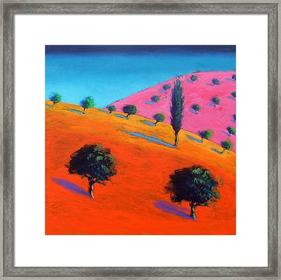 Pink Hill Framed Print by Paul Powis