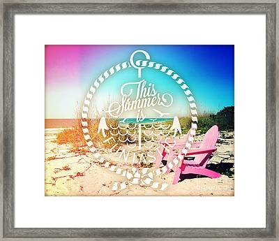 Pink Paradise Framed Print by Chris Andruskiewicz