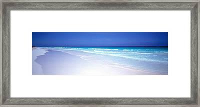Pink Sand Beach Harbour Island Bahamas Framed Print