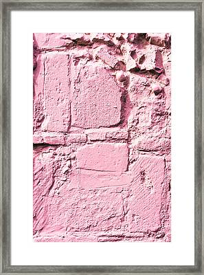 Pink Wall Framed Print by Tom Gowanlock
