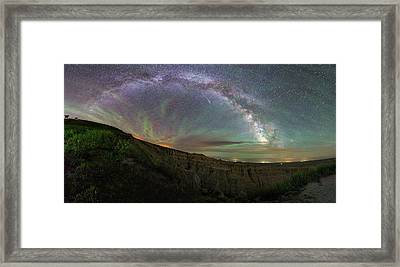 Framed Print featuring the photograph Pinnacles  by Aaron J Groen