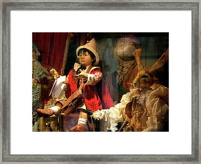 Pinocchio In Venice Framed Print
