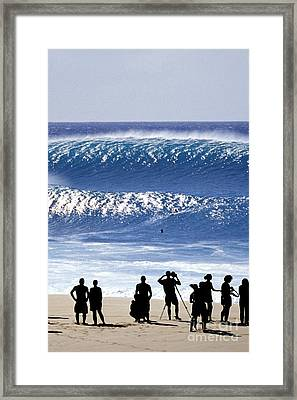 Pipe Shadow Land - Part 3 Of 3 Framed Print by Sean Davey