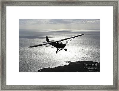 Piper L-4 Cub In Us Army D-day Colors Framed Print by Daniel Karlsson